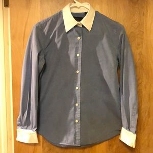 Banana Republic Tailored  French Cuff Button Down